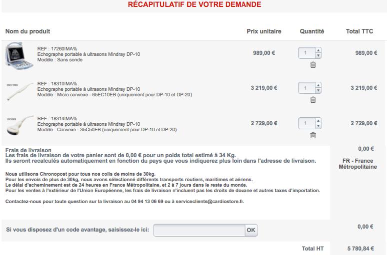 echographe à 1000euros