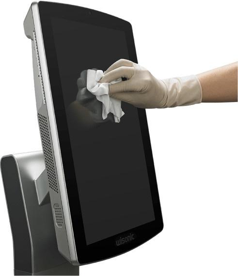 Désinfection écran de l'aèèareil d'échographie pour anesthésiologie